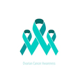 Ovarian Teal Ribbons AwarenessSupport vector image vector image