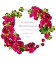 red roses card delicate summer card vector image