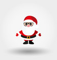 santa claus with glasses icon flat vector image vector image