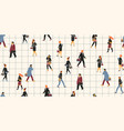 seamless pattern with people going to work vector image vector image