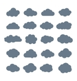 Set of Flat Clouds Icons Cloud Shapes collection vector image vector image