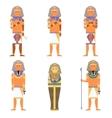 set pharaons vector image