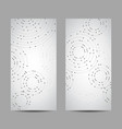 set vertical banners geometric pattern vector image vector image