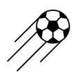 soccer game flying ball league recreational vector image