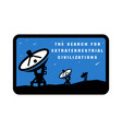 space exploration badges and logo emblem vector image