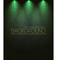 Spotlight background green vector image