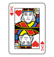 Stylized King of Hearts vector image vector image