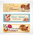 Sweets colored banners vector image vector image