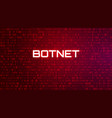 tech binary code red background botnet attack vector image