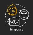 temporary chalk icon odd job short-term vector image vector image