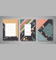 terrazzo wedding invitation card set abstract vector image vector image