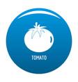 tomato icon blue vector image vector image