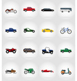 transport flat icons 57 vector image