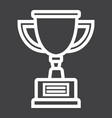 trophy cup line icon winner and award vector image vector image