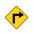 usa traffic road signssharp bend or turn in the vector image vector image