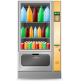 vending water is a machine isolated on white backg vector image vector image