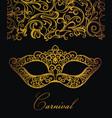 venetian ornamental mask vector image vector image