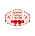 we wish you a very merry christmas ornate banner vector image