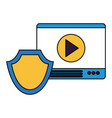 website content shield protection vector image