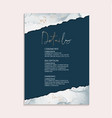 wedding navy invitations and card template design vector image