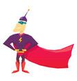 funny comic super hero vector image