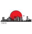 Tokyo city silhouette skyline vector image