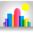 Urban City Colorful vector image