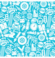 background pattern with car icons vector image