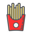 french fries filled outline icon food and drink vector image