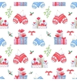 Christmas new year pattern vector image