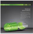 medical theme flyer brochure vector image