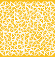 abstract yellow triangles random pattern on white vector image vector image