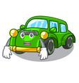 afraid classic car in shape mascot