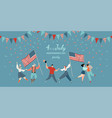 america independence day party invitation vector image vector image