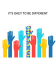 autism awareness month flat banner concept vector image