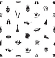 black and white punk icons seamless pattern eps10 vector image vector image