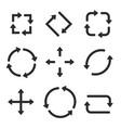 black arrows combinations vector image