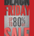 black friday percentage sale announcement vector image vector image