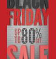 black friday percentage sale announcement vector image