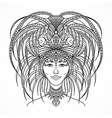 brazilian carnival woman in festival costume vector image