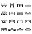 bridge icons set simple style vector image vector image
