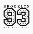 brooklyn new york design clothes t-shirts vector image vector image