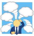 businessman thinking vector image