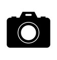 camera icon in on white background vector image vector image
