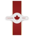 Canada Day national Banner with red Ribbon vector image vector image