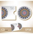 CD cover design template with ukrainian ethnic vector image vector image