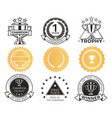 champion stickers collection vector image vector image
