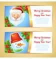 Christmas banner horizontal vector image