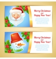 Christmas banner horizontal vector image vector image