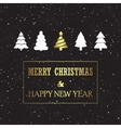 Christmas Card with Pines vector image vector image